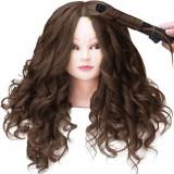 Cap practica manechin salon frizerie coafor Natural 55 cm Saten + 6 Piepteni