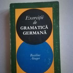 Exercitii de gramatica germana