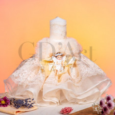 Lumanare Tulle Baby Angel Cream BB-012, GD Art Baby