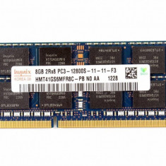Memorie Laptop SODIMM Hynix 8GB DDR3 PC3-12800S 1600Mhz 1.5V