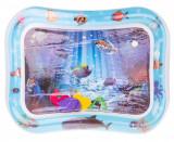 Covor saltea cu apa, centru de activitati pentru bebelusi, model vietati marine, 62x45 cm, albastru, Palmonix