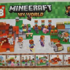 NOU/SIGILAT - Set de 80 piese tip lego Minecraft - My World LB 514-2