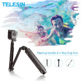 Brat pliabil 3in1: selfie stick, trepied si suport filmare pt camere GoPro 7 8 9