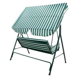 Balansoar Gradina Din Metal Material Textil Alb Verde 107 174 162 Cm Okazii Ro