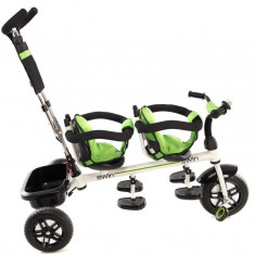 Tricicleta pentru gemeni 2Win Green