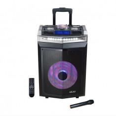 Boxa activa portabila Akai DJ-6112BT 120W Negru