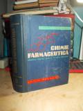 V. ZOTA - CHIMIE FARMACEUTICA , MANUAL SCOLI TEHNICE SANITARE , 1962