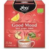 Ceai Good Mood cu Busuioc, Ghimbir si Lamaie Ecologic/Bio 12dz
