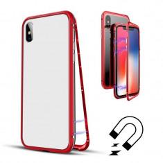 Husa de protectie Magnetic 360 pentru Apple iPhone 6/6S, Rosu