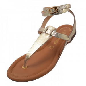 Sandale dama, din piele naturala, S.Oliver, 5-28103-20-12-15, auriu