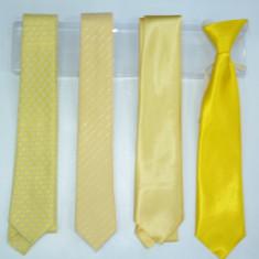 Cravata in cutie galben-portocaliu LA KIDS, Galben