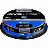 Mediu optic Intenso DVD-R 8.5GB 8 x 10 bucati Printabil
