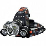 Cumpara ieftin Lanterna frontala de cap 3 X LED CREE XML, T6