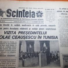 ziarul scanteia 19 aprilie 1975-vizita lui ceausescu in tunisia