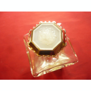 Sticla de Parfum Ruler Selion Franta ,ornamente capete de leu ,h=9,4cm