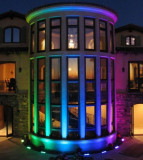Cumpara ieftin Proiector led RGB, cu telecomanda, 30W, gri, Gonga