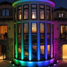 Proiector led RGB, cu telecomanda, 30W, gri, Gonga