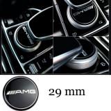 Emblema AMG buton multimedia Mercedes, Mercedes-benz