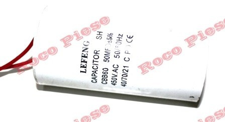 Condensator pornire motor electric (CBB60 450V 50/60Hz 50 MFD)