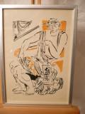 Desen-Doamna-Anestin (Ion Valentin), Portrete, Cerneala, Impresionism
