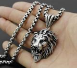 Lant +medalion INOX LION = 50 ron