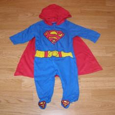 Costum carnaval serbare superman pentru copii de 3-6 luni, Din imagine