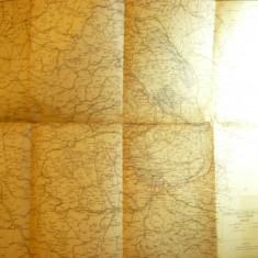 Harta Militara Romania si Tarile vecine - Harta Etapelor 1919 Batalia Vest Bucur