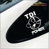Tdi Power-Stickere Auto-Cod:ESV-185 -Dim  20 cm. x 20 cm.