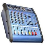 Mixer amplificat WVNGR WG-4DUSB cu 200 W si 4 canale