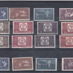 ROMANIA 1958  LP 463  LP 463 a    CENTENARUL  MARCII  POSTALE  MNH