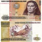 PERU 500 intis 1987 UNC!!!