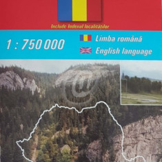 Romania - Harta rutiera/Road Map