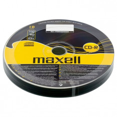 CD-R Maxell, 700 MB, 52x, 10 bucati/bulk in folie
