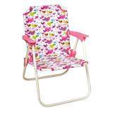 Scaun pliabil pentru copii, model inimi, 30 x 25 x 50 cm, maxim 35 kg