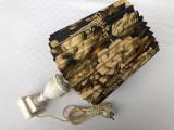 Frumoasa veioza din marmura cu abajur, anii 1960, Veioze