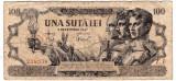 Bancnota 100 lei 5 decembrie 1947  uzata