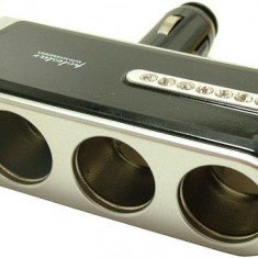 Spliter bricheta X3, cu incarcator USB, 5V - 116449