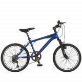 Cumpara ieftin Bicicleta Copii MTB VELORS 2010A, roti 20inch, cadru otel 16inch (Albastru)