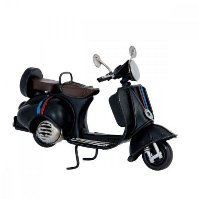 Macheta scuter Retro din metal negru 11 cm x 5 cm x 7 h foto