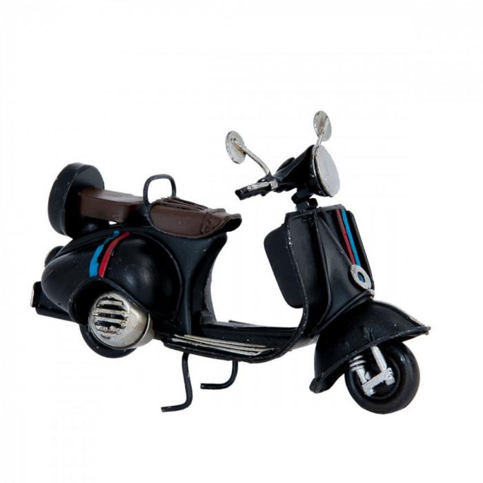 Macheta scuter Retro din metal negru 11 cm x 5 cm x 7 h
