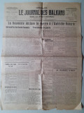 Ziar Le Journal des Balkans 16 august 1916  Romania Primul Razboi Mondial