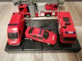 Set masini pompieri, Plastic