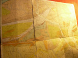 Harta panzata Valenii de Munte - Institut Geologic al Romaniei dim.= 41x42cm