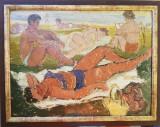 Tablou pictură Eugen Popescu, Scene gen, Ulei, Avangardism