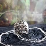 Pandantiv medalion pentru poză inimă - argint
