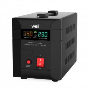 Stabilizator automat de tensiune Well Agile, 1000 VA, protectie la supratensiune