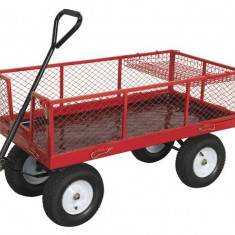 Carucior transportator cu 4 roti incarcare 450kg