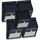 Set 5 Lampi Solare cu 30 LED, senzor de miscare si senzor de lumina