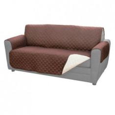 Husa pentru canapea cu 2 fete, maro/alb, usor de intins dar si de dat jos.