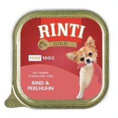 Rinti Gold Mini Adult conservă de carne de vită şi carne de bibilică 100 g